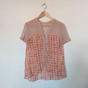 Hinge pink orange dotted Button Down